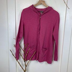 J. Jill Hooded Cardigan Pink Purple color